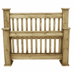 Rustic Mission Bed Frame Queen