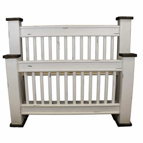 Rustic Mission White Bed Frame