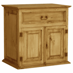 Rustic Pine Bathroom Vanity 34""