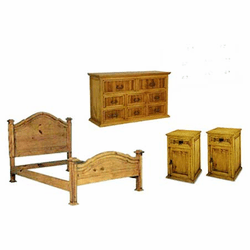 Rustic Pine Bedroom Furniture Set