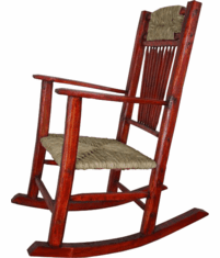 Rustic Red Rocking Chair