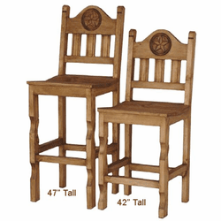 Rustic Star Bar Stool