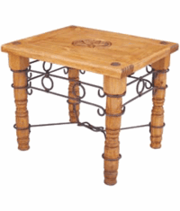 Rustic Star End Table