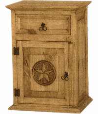 Rustic Star Night Stand L