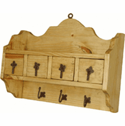 Rustic Wood Key Holder