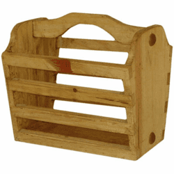 Rustic Wood Magazine Rack