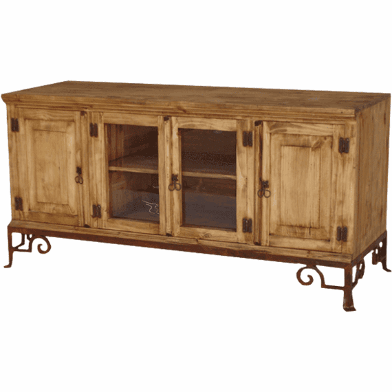 """Rustico 60"""" Wood TV Stand w/ Base"""