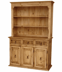 Rustico Pine Wood Small China Cabinet