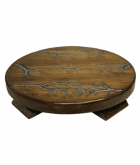 Rustico Rustic Lazy Susan W/ Turquoise Inlay