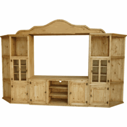 Rustico Wood Entertainment Center