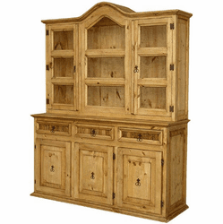 Saltillo Large Rustic China Cabinet
