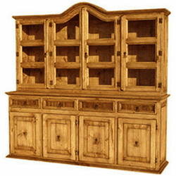 Saltillo Rustic Star China Cabinet