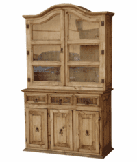 Saltillo Small Pine China Cabinet