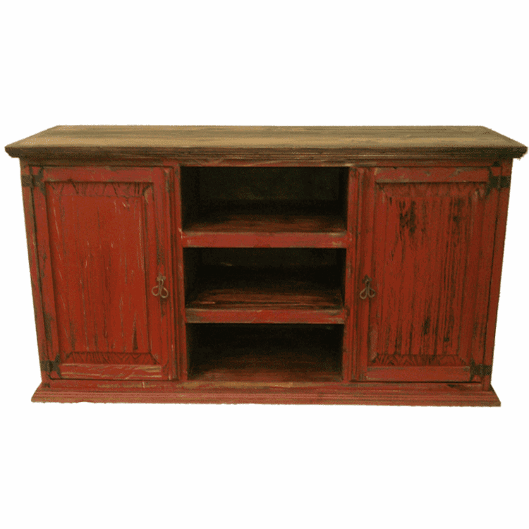 """San Carlos Antique Red 60"""" TV Stand"""