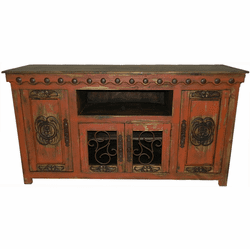 "San Carlos Rustic 67"" Antique Red TV Stand"