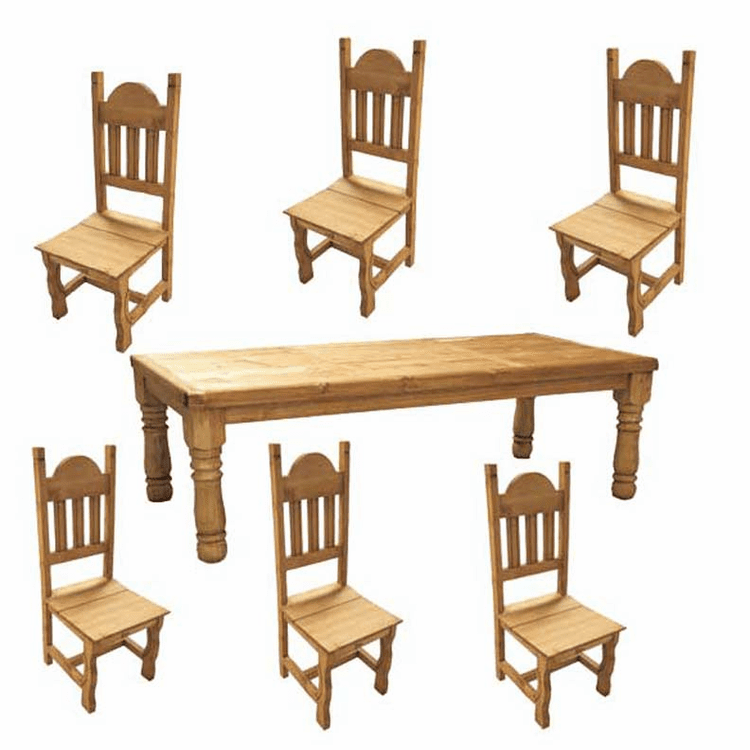 San Carlos Rustic Dining Table Set