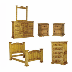 San Carlos Rustic Pine Bedroom Set