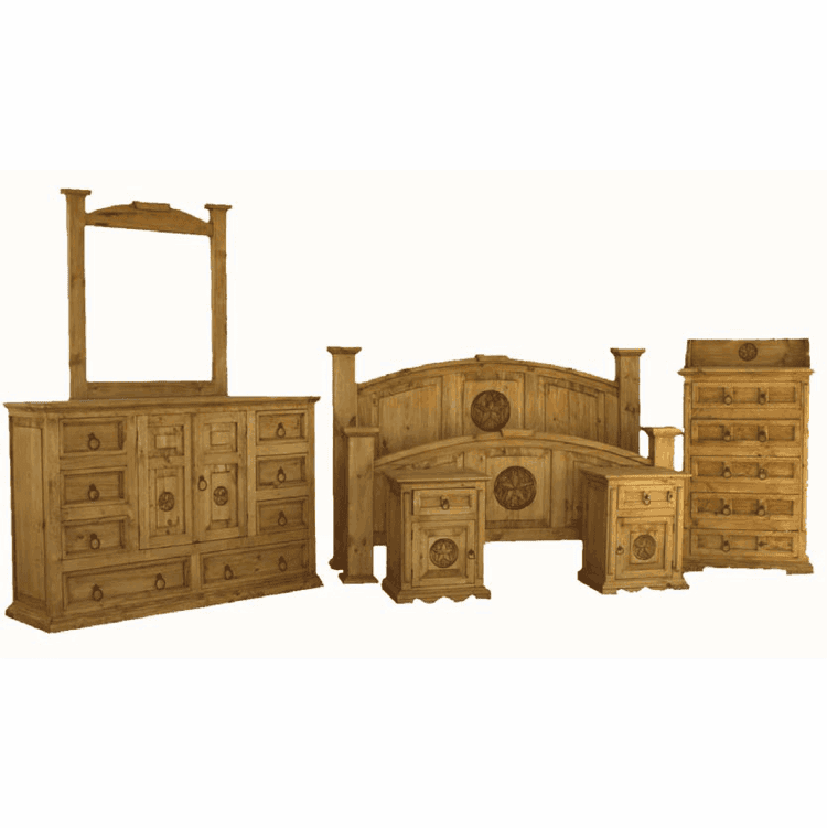 San Carlos Rustic Star Bedroom Set