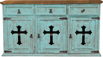San Carlos Turquoise Buffet with Cross