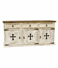 San Carlos White Buffet With Cross