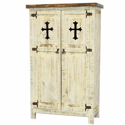 San Carlos White Cabinet With Cross