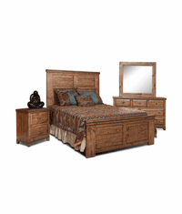 San Cristobal Rustic Bedroom 4 Piece Set