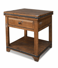 San Cristobal Rustic End Table