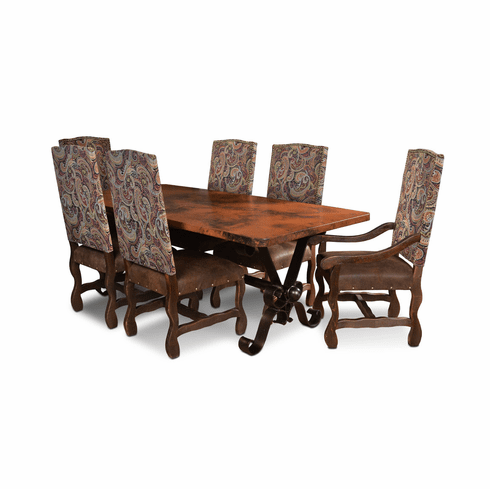 San Jose Copper Dining Table Set
