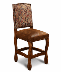 San Jose Rustic Suede Bar Stools W/ Tapestry Fabric