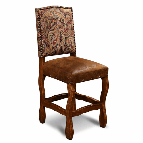 San Jose Rustic Suede Counter Stool W/ Tapestry Fabric