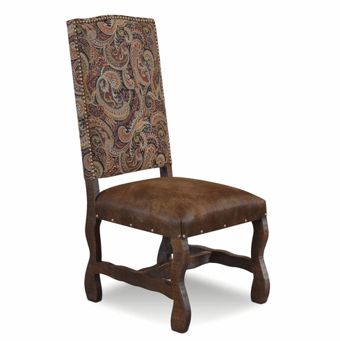 San Jose Rustic Suede Dining Chair W/ Tapestry Fabric