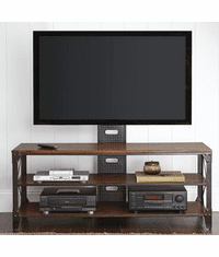 "San Juan Industrial Rustic 60"" TV Stand With Shelves"