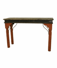 San Juan Two-Tone Console Table Red