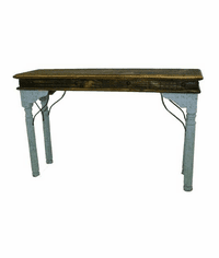 San Juan Two-Tone Console Table Turquoise