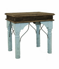 San Juan Two-Tone End Table Turquoise