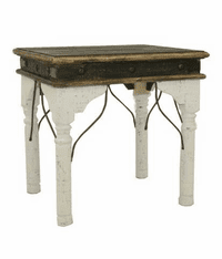 San Juan Two-Tone End Table White