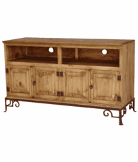 "San Luis 60"" Rustic TV Stand w/ Base"