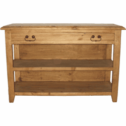 San Luis Rustic Wood Console Table