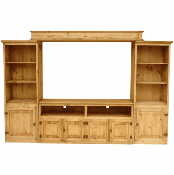 Rustic Mexican Wall Unit Entertainment Center