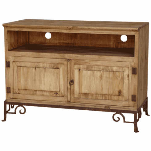 """San Miguel 48"""" Rustic TV Stand w/ Base"""