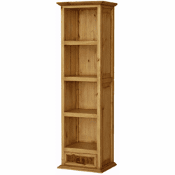 San Miguel Rustic Bookshelves w/ Drawer