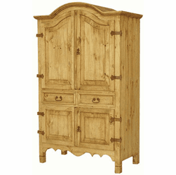 San Miguel Wood Rustic Armoire Large