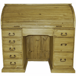 Sanfa Fe Wood Roll Top Desk