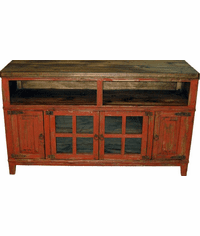 "Santa Fe Antique Red 72"" TV Stand"