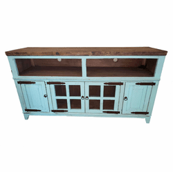 """Santa Fe Antique Turquoise 72"""" or 80"""" TV Stand"""