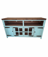"Santa Fe Antique Turquoise 72"" or 80"" TV Stand"