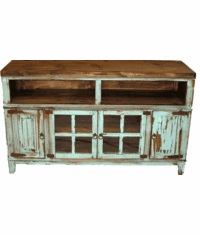 "Santa Fe Antique Turquoise 72"" TV Stand"