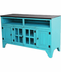 "Santa Fe Antique Turquoise 80"" TV Stand"