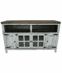 "Santa Fe Antique White 60"" TV Stand"