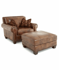 Santa Fe Leather Chair and Ottoman